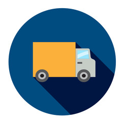 DELIVERY TRUCK Flat Style Vector icon