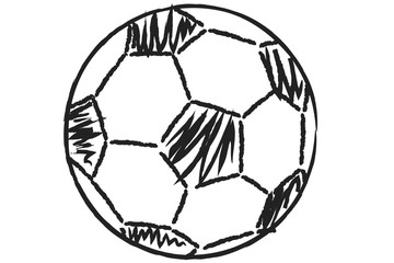 soccer ball illustration in black and white