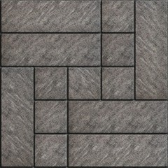 Rectangular Gray Paving Slabs with Scuffed.  Seamless Tileable Texture.