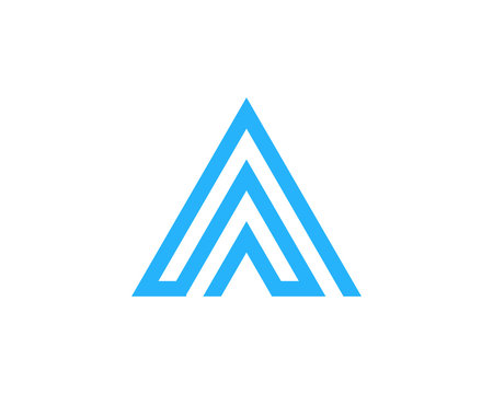 Letter A Line Maze Logo Design Element