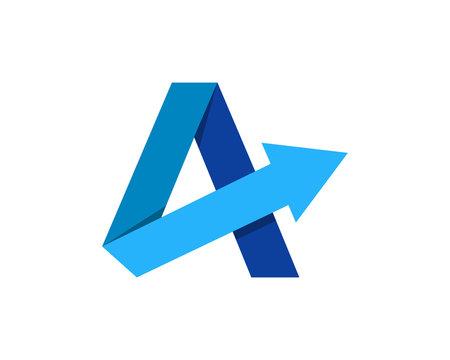 Letter A Arrow Logo Design Element