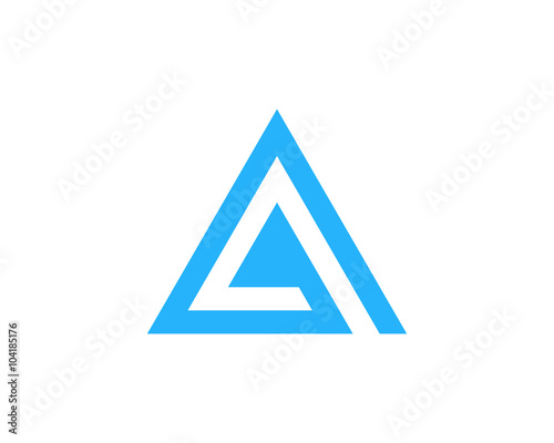 letter a pyramid logo design element stock image and royalty free