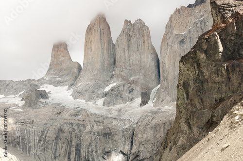 Wall mural Granite Towers - Torres Del Paine National Park - Chile