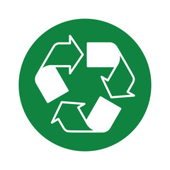 recycle_icon green round
