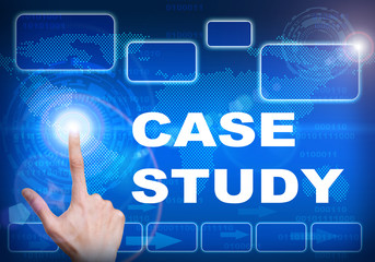 Touch screen digital interface of case study concept