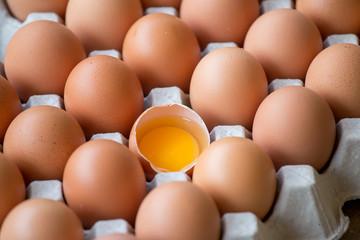 Eggs broken in the package