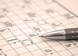 Kreuzworträtsel, Crossword puzzle