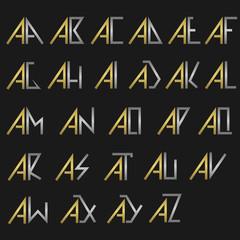 Monogram logo set