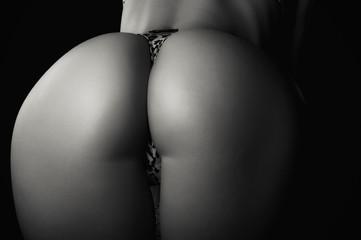 Perfect sexy buttocks close-up