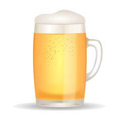 Beer mug illustration isolated on white background.