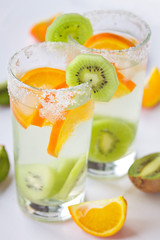 Kiwi and orange lemonade