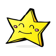 cartoon happy star character