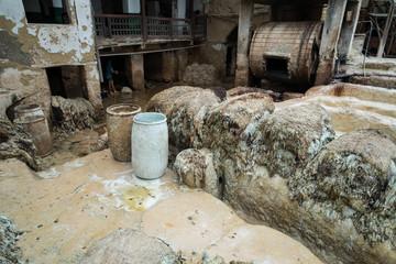Gerberei in Fes Marokko