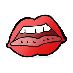 cartoon sexy lips symbol