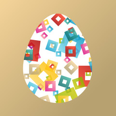 Easter egg concept vector illustration abstract spring color