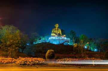 Wat Lamphun Doi ti. Big Buddha built in approximately 2011 to the attraction of Lamphun,Thailand.