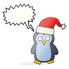 speech bubble cartoon penguin