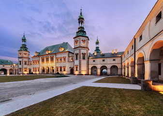 Bishops Palace in Kielce, in the evening. Wall mural