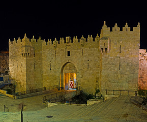 The Damascus Gate in evening