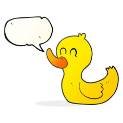 speech bubble cartoon cute duck
