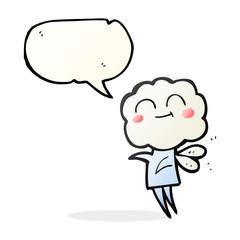 speech bubble cartoon cute cloud head imp