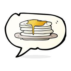 speech bubble cartoon stack of pancakes