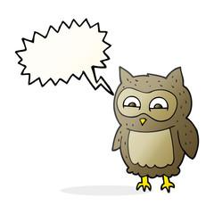 speech bubble cartoon owl