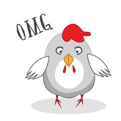 funny chicken omg