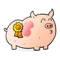 cartoon prize winning pig