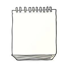 cartoon notepad