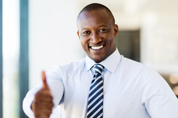 black business man giving thumb up