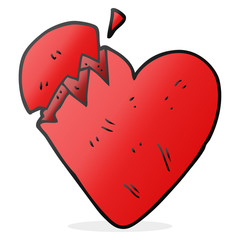 cartoon broken heart
