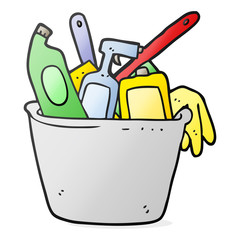 cleaning products cartoon