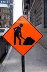 construction work sign
