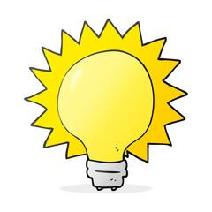 cartoon light bulb