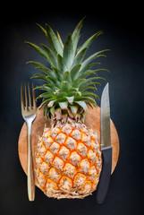 Fruit Fresh Pineapple Background Diet Concept