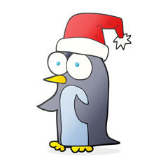 cartoon christmas penguin