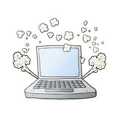 cartoon laptop computer fault