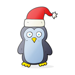 cartoon christmas penguin