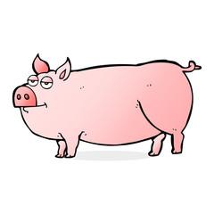 cartoon huge pig