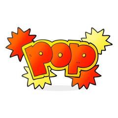 cartoon pop explosion symbol
