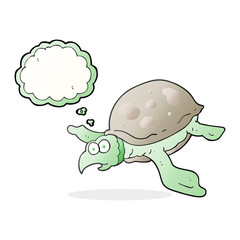 thought bubble cartoon turtle