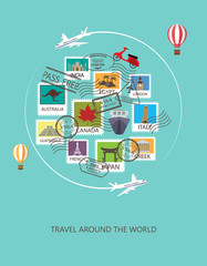 travel around the world background,