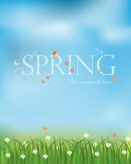 spring season background, vector