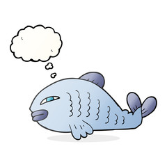 thought bubble cartoon fish