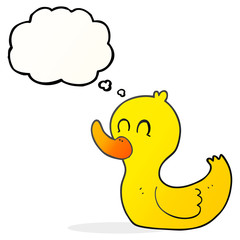 thought bubble cartoon cute duck