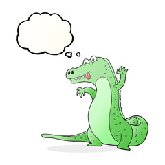 thought bubble cartoon crocodile