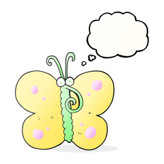 thought bubble cartoon butterfly