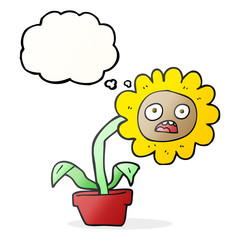 thought bubble cartoon sad flower