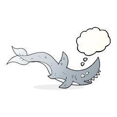 thought bubble cartoon shark